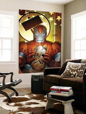 Invincible Iron Man No.19 Cover: Iron Patriot Wall Mural by Salvador Larroca