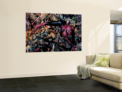 New Avengers No.45 Group: Spider-Man, Wolverine and She-Hulk Wall Mural by Jim Cheung