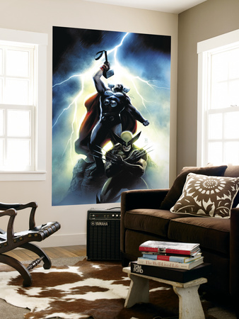 Wolverine First Class No. 15 Cover: Wolverine and Thor Wall Mural by Dennis Calero