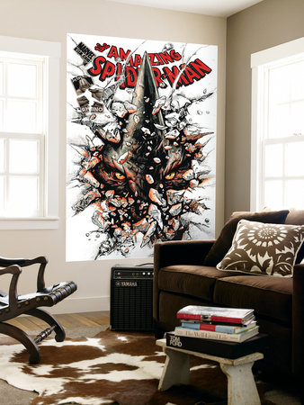 The Amazing Spider-Man No.617 Cover: Rhino Wall Mural by Paolo Rivera