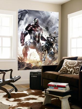 War Machine No.10 Cover: Iron Patriot and War Machine Wall Mural
