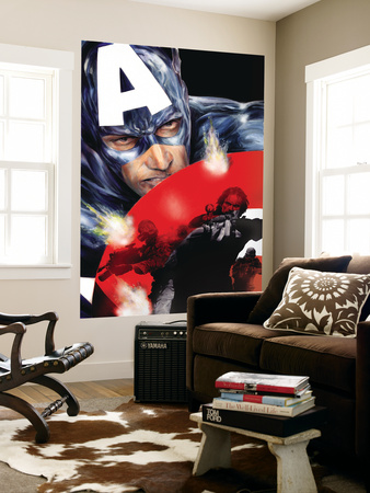 Captain America No.37 Cover: Captain America Wall Mural by Jackson Guice