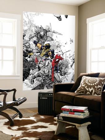 The Amazing Spider-Man No.555 Cover: Spider-Man and Wolverine Vægplakat