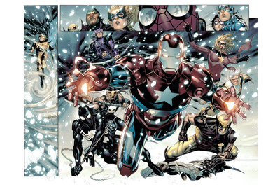Free Comic Book Day 2009 Avengers No.1 Group: Iron Patriot Wall Mural by Jim Cheung