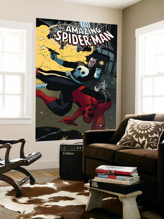The Amazing Spider-Man No.577 Cover: Spider-Man and Punisher Wall Mural by Paolo Rivera