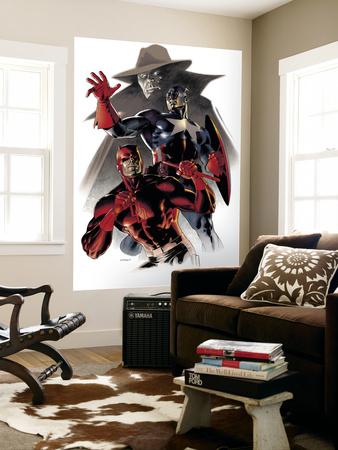 Daredevil & Captain America: Dead On Arrival Cover: Captain America and Daredevil Wall Mural by Claudio Villa