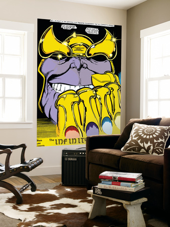 Infinity Gauntlet No.2 Headshot: Thanos Wall Mural by George Perez