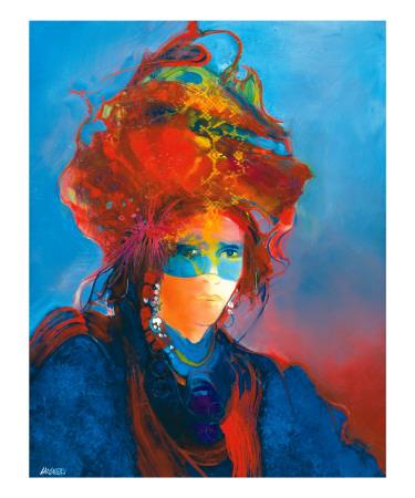 Masque Blue au Turban Posters by Max Laigneau