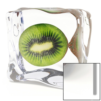 Iced Kiwi Art on Glass