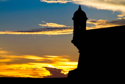 El Morro Fort at Sunset, Puerto Rico Photographic Print by George Oze