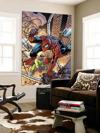 Marvel Adventures Spider-Man No.45 Cover: Spider-Man and Doctor Octopus Wall Mural by Zach Howard