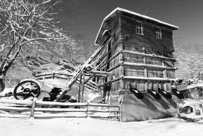 Snow Covered Old Quarry Stamp Mill Photographic Print by George Oze