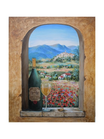 Wine and Poppies Prints by Marilyn Dunlap