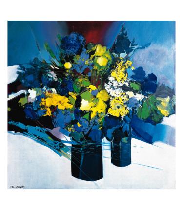 Symphonie Bleu et Jaune Posters by Max Laigneau