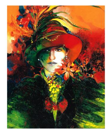 La Femme au Capeau Art by Max Laigneau