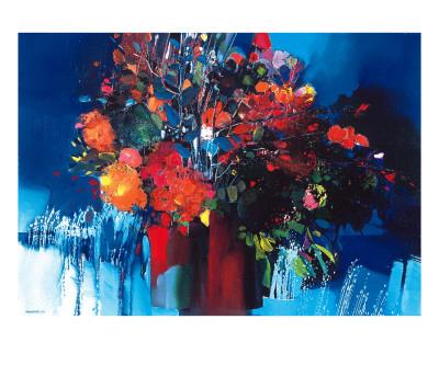 Bouquet aux Giclures Posters by Max Laigneau