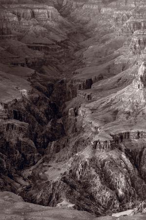 Bright Angel Canyon Grand Canyon National Park BW Photographic Print by Steve Gadomski