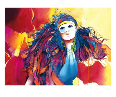 Ramages Multicolores Prints by Max Laigneau