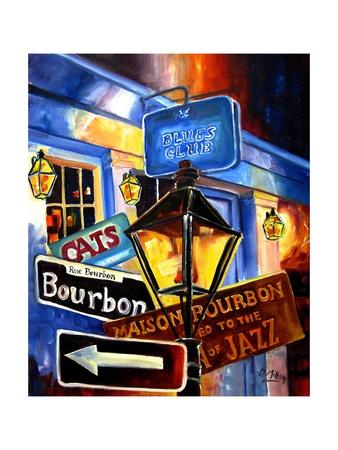 Signs of Bourbon Street Print by Diane Millsap