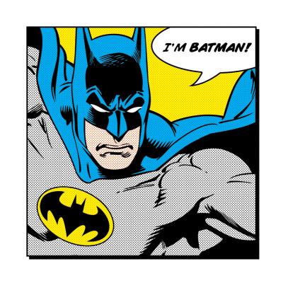 Soy Batman, en inglés Láminas