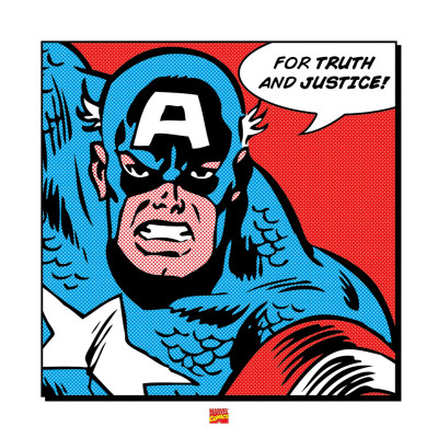 Captain America: For Truth and Justice Kunstdruck