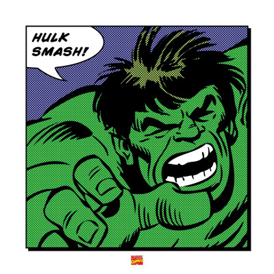 Hulk Smash! Art Print