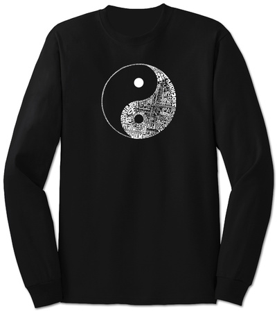 Long Sleeve: Yin Yang Langærmet T-shirt