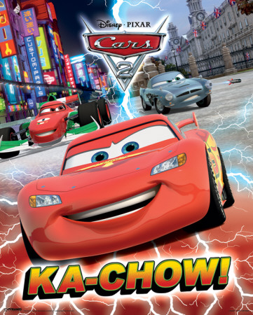 Disnay Cars 2 (Ka-Chow!)-Metallic Mini Poster