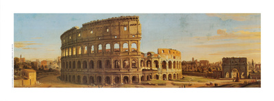 A View of the Colosseum in Rome Art Print