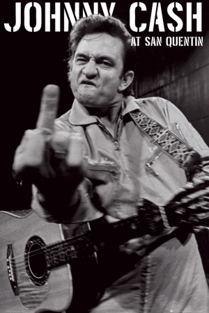 Johnny Cash- San Quentin Portrait Affiche