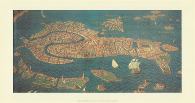 Modern Italy - Venice 1600 Reproduction d'art