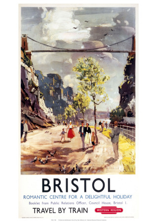 Bristol Romantic Centre Giclee Print