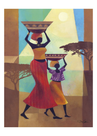 Mother's Helper Prints by Keith Mallett