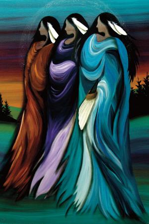 Three Sisters Láminas por Betty Albert