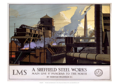 A Sheffield Steel Works, LMS, c.1923-1947 Giclee Print