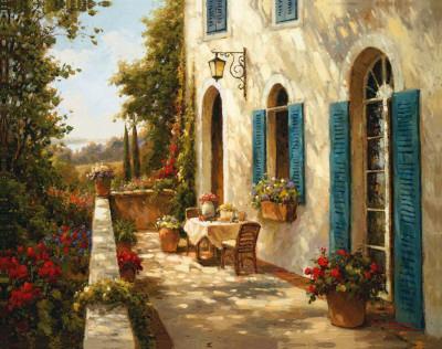 Sunny Terrace II Poster by Steven Harvey