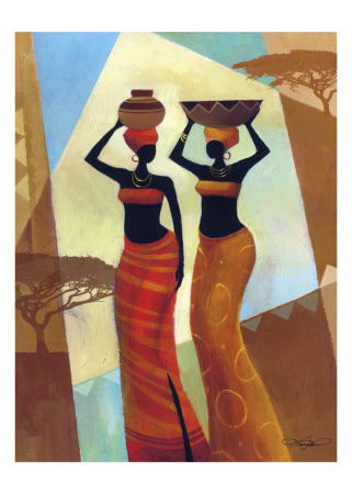 Sisters Print by Keith Mallett