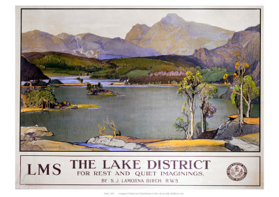 Lake District Railway Poster