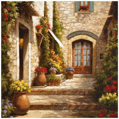 Sunlit Courtyard Posters by Steven Harvey