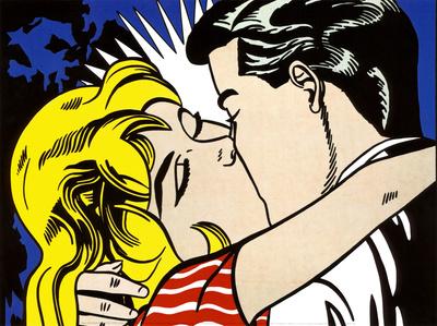 Kiss II, c.1962 Kunst af Roy Lichtenstein