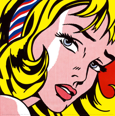 Girl with Hair Ribbon, c.1965 Posters by Roy Lichtenstein