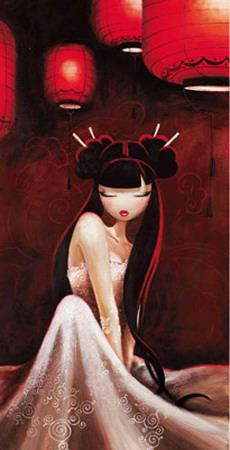 Lampions Rouges Prints by  Misstigri