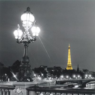 Eiffel Tower By Night Print