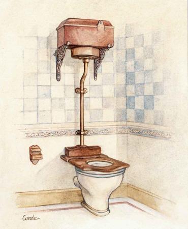 vintage toilet i plakater af conde p. Black Bedroom Furniture Sets. Home Design Ideas