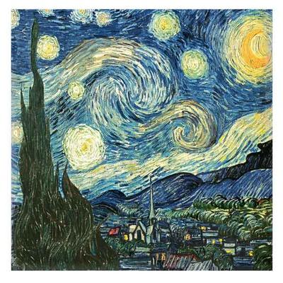 Blå himmel Kunsttryk