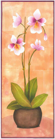 Flowers In Purple II Poster by  Urpina