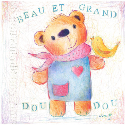 Grand Doudou Print by Joelle Wolff