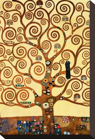 De levensboom Kunst op gespannen canvas van Gustav Klimt
