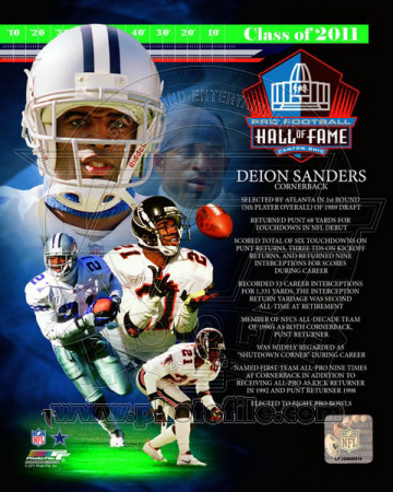 Deion Sanders 2011 Hall of Fame Composite Photo
