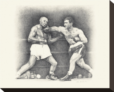 Rocky Marciano Reproduction transfre sur toile